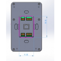 Buy cheap Dual Wifi Frequency Industrial 5 Inch Android Wall Mount Terminal Control Panel from wholesalers