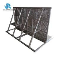 Quality Angled Crowd Barrier Fencing , Pedestrian Barricades For Stopping Crazy Fans for sale
