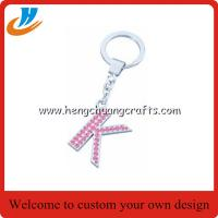 Quality Custom alphabet keychain holder,letter tag keychain with custom,tag holder key chains welcome custom for sale