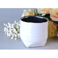 silver inside cylinder ceramic candle holder for votive and decorative
