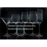 China clear wine glasses engraved pineapple glassware factory on sale