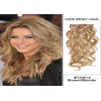 Quality Smooth Brown Clip In human Hair Extensions Malaysian Virgin Remy Hair for sale
