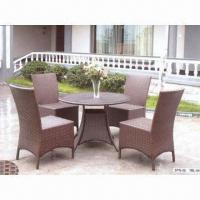 Quality Outdoor Wicker Furniture with Aluminum Frame, Made of Rattan for sale