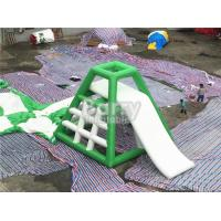 Quality 4.8m High Inflatable Water Toys Inflatable Water Jumping Tower With Water Slide for sale