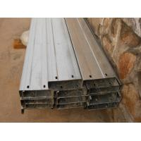 China Automatic Drilled Holes Steel Building Purlins , Cold Rolled Steel C Purlin  on sale
