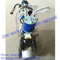 Quality For EU market,Piston Typed Single Bucket Mobile Milking Machine,small portable milking machine for cow and sheep for sale