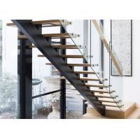 China Best cast iron staircase with tempered glass balustrade Customizable on sale