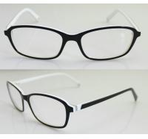 Quality Black & White Fashion Eyeglass Frames, Custom Acetate Eyewear Frames For Men for sale