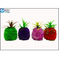 Quality Pineapple Artificial Fruit Fish Tank Decorations Green / Purple / Red Custom Aquarium Accessories for sale