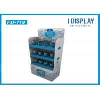 Quality 3 Layers Cardboard Floor Displays , Corrugated Paper Floor Display Stand for sale