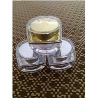 Buy 5ml 10ml 15ml 30ml 50ml square plastic cosmetic pot acrylic silver gold empty at wholesale prices