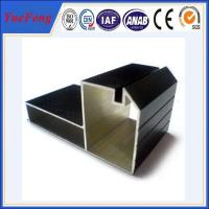 China cheap aluminum profiles factory, Black Anodized aluminium profile for furniture on sale