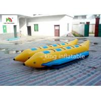 Quality PVC Tube Banana Inflatable Fly Fishing Boats 16 Persons Double Pulled Motorboat for sale