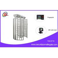 Quality Rotary Durable Flexible single turnstile Full Height with Fingerprint or QR Code Scan for sale