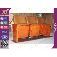 Quality Low Back Synthetic Leather Auditorium Movie Theater Seats / Church Folding Chairs for sale