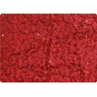 Quality Red Lightweight Lace Overlay Fabric Home Decorator Fabric Cloth for sale