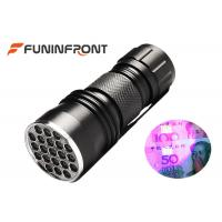 China 21 leds 395NM LED UV Flashlight Using aaa Battery for Currency Detecting on sale