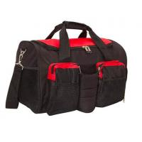Quality Black 600D Polyester Gym Bag With Shoe Compartment OEM / ODM Acceptable for sale