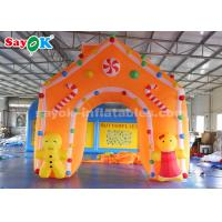 Quality C4*4m Oxford Fabric Inflatable Christmas Archway For Holiday Decorations for sale