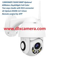 Quality outdoor 1080P 2Mp 4X ZOOM mini 2.5inch day and night full color WIFI 128G SD two ways audio P2P IP PTZ speed dome camera for sale