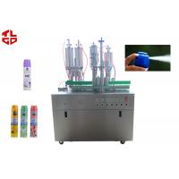 Quality Pneumatic Control Air Freshener Filling Machine , Spray Can Filling Machine for sale