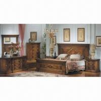 Quality Eco-friendly Painting Bedroom Set, Made of MDF/ Wood for sale