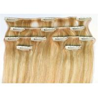 Quality Straight Clip In 100% Unprocessed Virgin Human Hair 16 Inch - 24 Inch Hair Extensions for sale