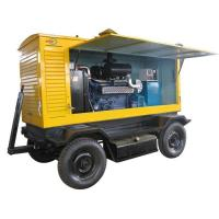 Quality Mobile Electric Generator Set 375KVA  With Soundproof Canopy for sale