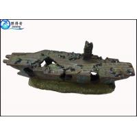 Buy Vintage Lost Ship Aquarium Resin Decorations Fish Tank Ornaments Non-toxic and Customized at wholesale prices