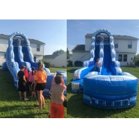 Quality High Quality PVC Inflatable Slide Beach Water Jumping Water Slides for sale