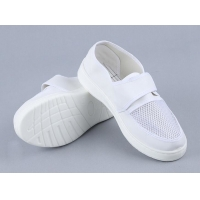 Buy cheap White Single Net Velcro Breathable 220mm PU esd Shoes from wholesalers