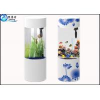 Buy Cylindrical Wall Panel Acrylic Custom Fish Tanks Aquarium Ecology 101L for Decorative at wholesale prices