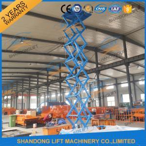China CE 6.65m 500Kgs Electric Scissor Lift Hydraulic Scissor Cargo Lift for Warehouse on sale