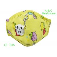 China Non Irritating Disposable Kids Surgical Mask Dust Prevention Pink Yellow on sale