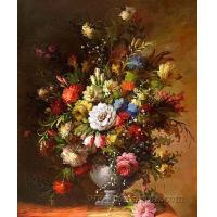 Quality crystal flower painting art flower wall decor for sale