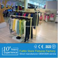 Quality contemporary invisible wall attachment of various size clothes store wood display shelf for sale