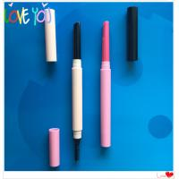 Quality OEM multi colour eyebrow pencil double head eye brow pencil with eyebrow sponge brush for sale