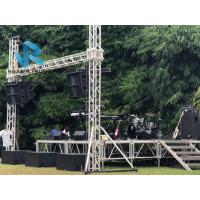 Quality Outdoor Stage LED Screen Truss System Quickly Assemble Silver / Black Color for sale