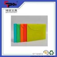 Quality PP Translucent File with Button Plastic Stationery for Office & School Envelop Folder Bag for sale