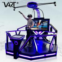 Quality VR shooting fight simulator games with HTC vive glasses walker stand platform for sale