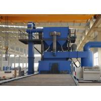Quality Rust Removal Steel Plate Shot Blasting Machine With Roller Conveyor Blue Color for sale