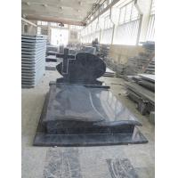 Quality Bahama Blue Granite Headstones , Vizag Blue Granite Cemetery Cross Monuments for sale