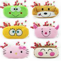 Quality Stationery Animal Plush Pencil Case Animal Zipper Pencil Pouch For Promotion Gifts for sale