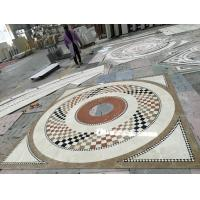 Quality Commercial Mosaic Floor Medallions , Modern Design Waterjet Floor Medallions for sale