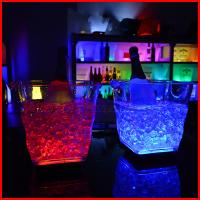 Quality 2017 New Design 5L Led ice Wine Beer buckets For Night Bar Pub KTV Use Color Changing 20*20cm for sale