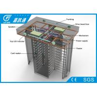 Quality Automatic / Hand - Push Full Height Turnstile Gate Channel Width 550 - 600mm 25 Persons / Min for sale
