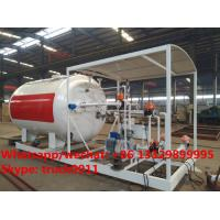 Quality China made high quality and lower price 10cbm mobile skid lpg gas storage tank with digital weighting scale for sale for sale
