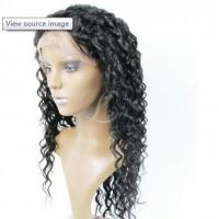 Quality Elegant Natural Lace Front Wigs With Bangs , 100% Density Wavy Lace Front Wigs for sale