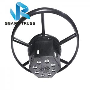 Quality 1.5m 5ft Diameter Rotating Circle Lifting Stage Truss For 6pcs Move Head for sale
