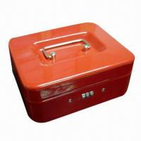 Quality Cash Box, Made of Steel with Powder Coating, Additional Storage Under Cash Tray for sale